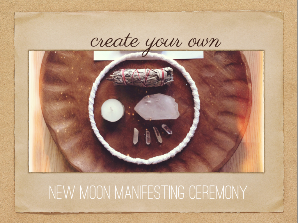 create your own new moon manifesting ceremony image